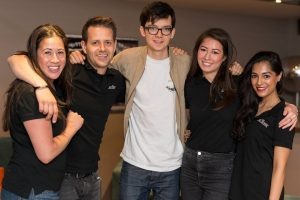 Actor Asa Butterfield and The Reel Scene Team