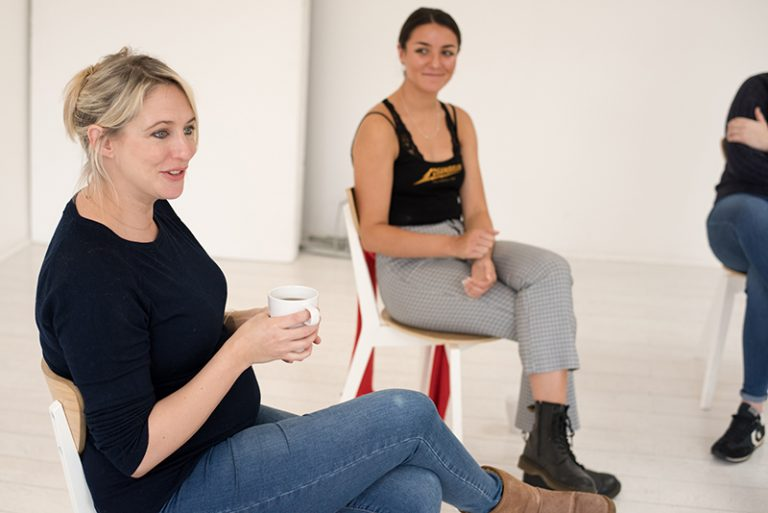 Ali Bastian works with Screen Acting Year Course students
