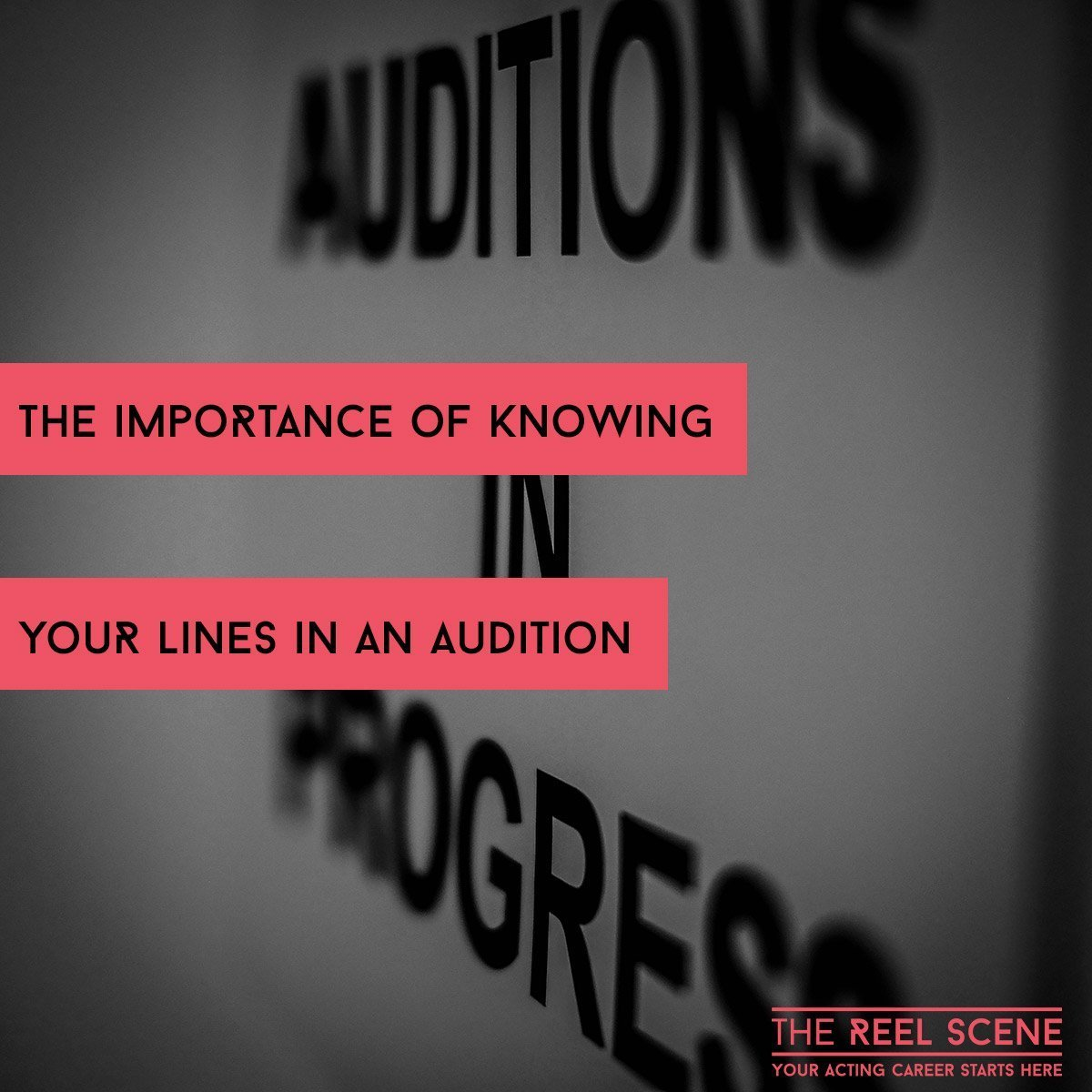 Knowing your lines at an audition is crucial