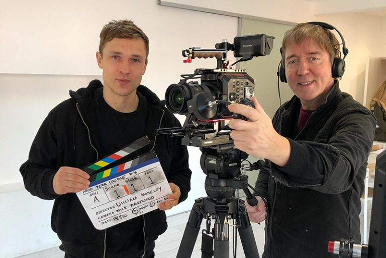 William Moseley with DoP Nick Driftwood